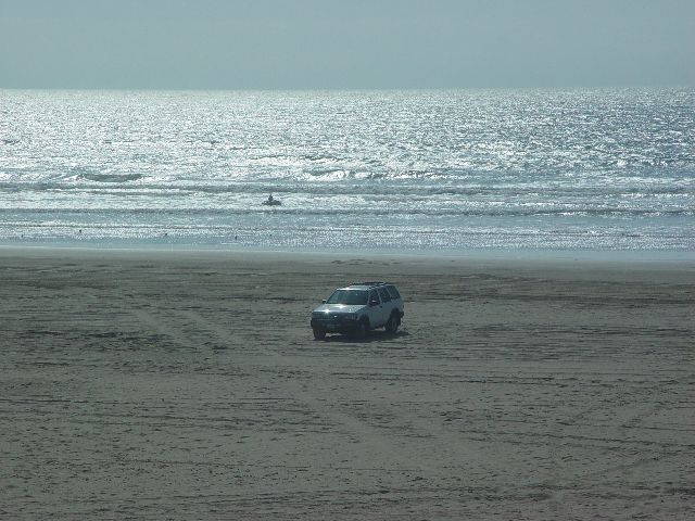 Parked on the beach