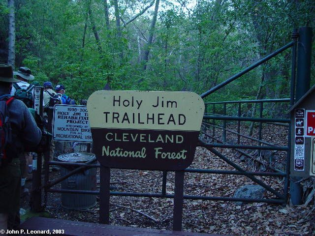 Holy Jim trail head
